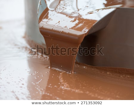 Hot milk chocolate flow or stream on factory Stock photo © pavlovski