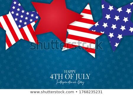 Negyedike nap szórólap boldog háttér zászló Stock fotó © SArts