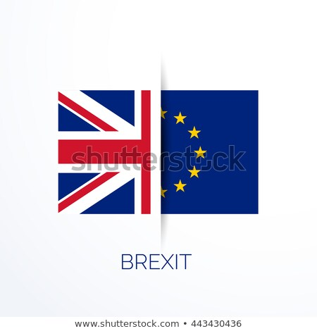 Stock photo: brexit referensum with uk and eu flags