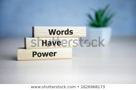 Tablicy tekst moc wpływ czarny informacji Zdjęcia stock © Zerbor