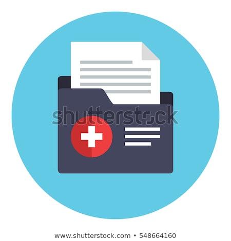 Medische geschiedenis icon stijl Geel kantoor Stockfoto © ylivdesign