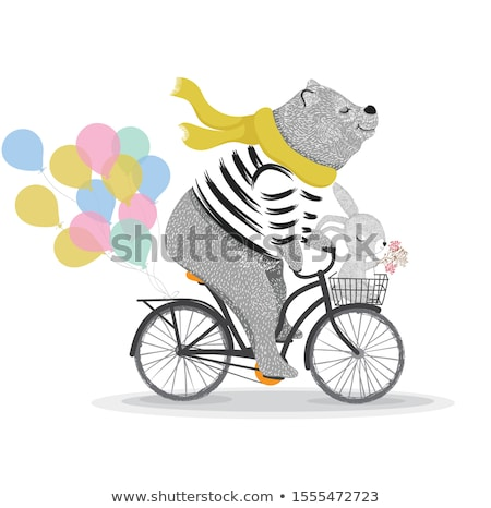 Photo stock: Vélo · rétro · illustration · vecteur · design · fond