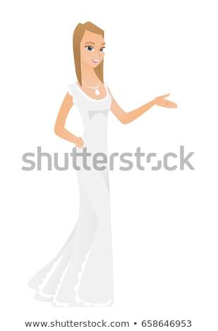Verloofde arm uit gebaar jonge Stockfoto © RAStudio