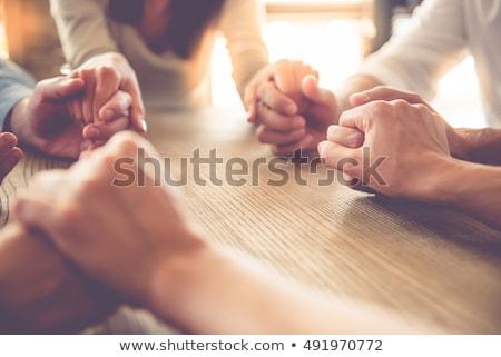 женщину молиться рук вместе черный счастливым Сток-фото © wavebreak_media