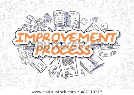 Improvement Process - Doodle Orange Word. Business Concept. Stock photo © tashatuvango