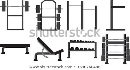 Cremalheira crossfit ginásio fitness lazer Foto stock © wavebreak_media