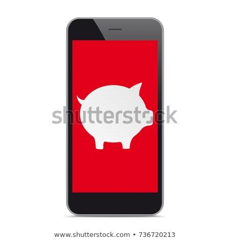 okostelefon · piros · fehér · black · friday · fekete · vásár - stock fotó © limbi007