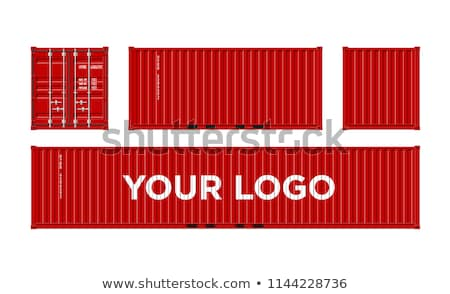Cargo ship with red containers Stock photo © 5xinc