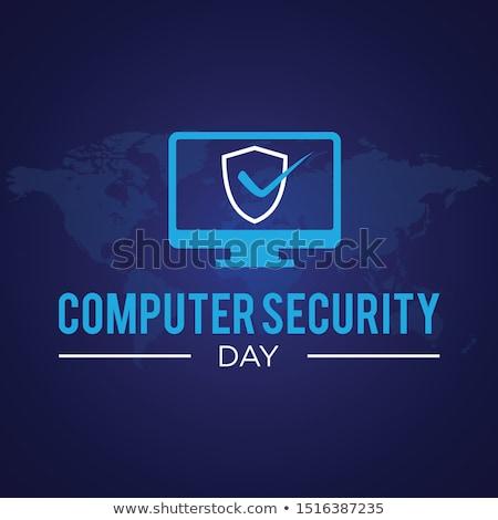 30 számítógép biztonság nap naptár üdvözlőlap Stock fotó © Olena
