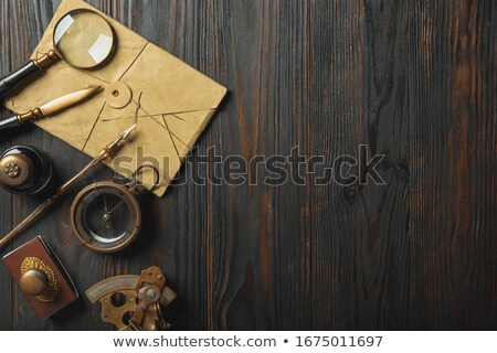 Magnifier in steampunk style Stock photo © blackmoon979