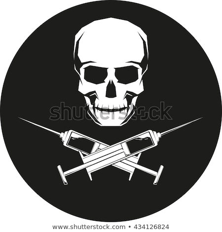 Stock photo: Syringe and skull