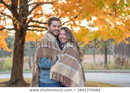 couple wrapped in blanket Stock photo © IS2