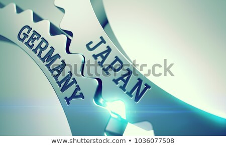 Japan Germany - Mechanism of Shiny Metal Cog Gears . 3D . Stock photo © tashatuvango
