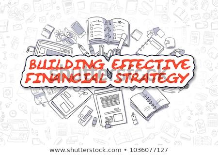 Budynku skuteczny finansowych strategii działalności cartoon Zdjęcia stock © tashatuvango