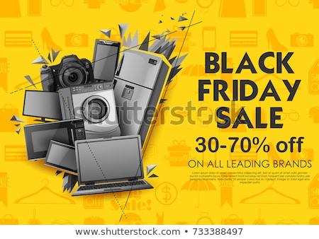 Mega discount poster vector illustration Stock photo © studioworkstock