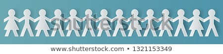 Paper chain people Stock photo © IS2