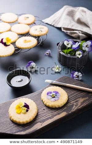 peperkoek · icing · procede · winter · dessert · tekening - stockfoto © melnyk