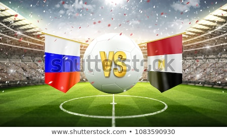 Fútbol partido Rusia vs Egipto fútbol Foto stock © Zerbor