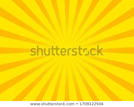 黄色 · 光 · レトロな · コミック · スタイル - ストックフォト © studiostoks