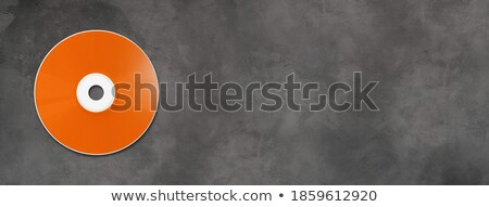 Orange CD - DVD mockup template isolated on Grey Stock photo © daboost
