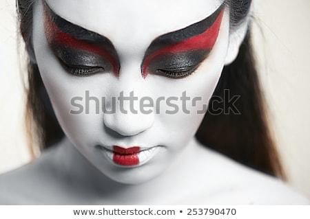 Asia belleza mujer creativa maquillaje primer plano Foto stock © artfotodima
