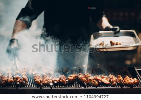 Barbecue kebab szakács ízletes grill vacsora Stock fotó © romvo