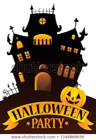 halloween party sign composition image 4 stock photo © clairev