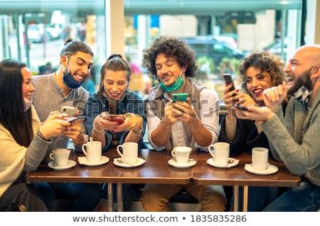 携帯電話 · いくつかの · ビジネス · 作業 - ストックフォト © deandrobot