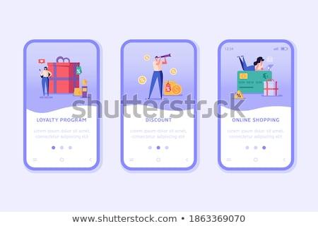 Zniżka lojalność karty app interfejs szablon Zdjęcia stock © RAStudio