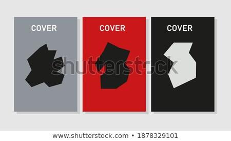 Geografia plakat nagłówek świecie sylwetka pływające Zdjęcia stock © robuart