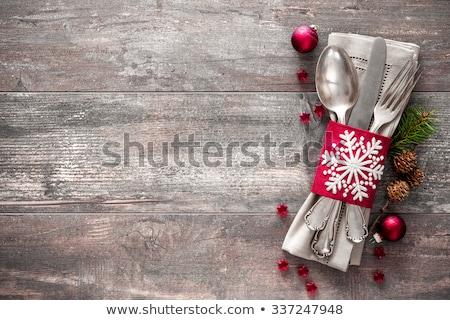 Zdjęcia stock: Christmas · obiedzie · miejsce · zabawy · porcelana · płyty