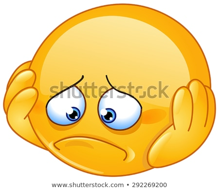Hurt and sad emoticon Stock photo © yayayoyo