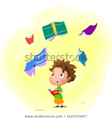 Surprised Cartoon Spell Book Stock photo © cthoman