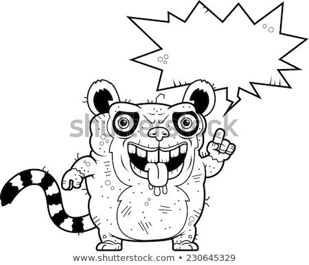 Csúnya beszél rajz illusztráció állat grafikus Stock fotó © cthoman