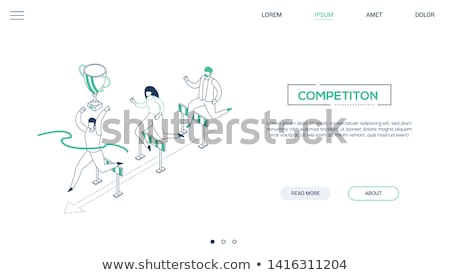 challenge concept   modern isometric vector web banner stock photo © decorwithme