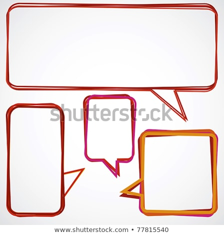 speech bubbles over light grey background stock photo © nobilior