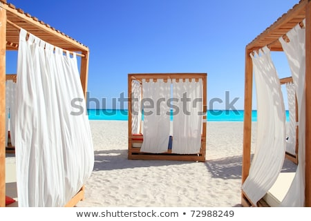 caribbean gazebo beach wedding massage stock photo © lunamarina