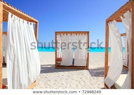 caribbean gazebo beach wedding massage Stock photo © lunamarina