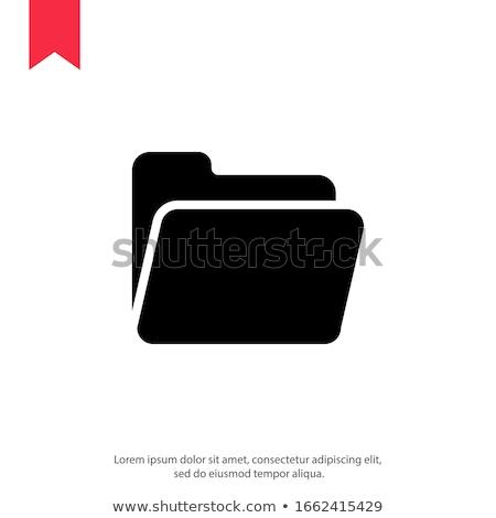 フォルダ アイコン ユーザー トレンディー スタイル 孤立した ストックフォト © kyryloff