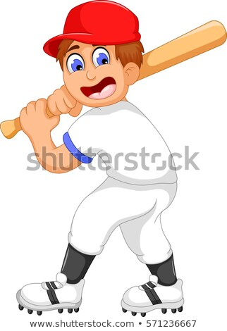Portrait of a cricket batsman showing vector illustration. Stock photo © Vicasso
