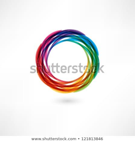 Stockfoto: Blauw · glanzend · meetkundig · brief · vector · illustratie