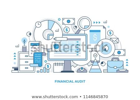 учета портфель калькулятор бухгалтеров рабочих Сток-фото © RAStudio