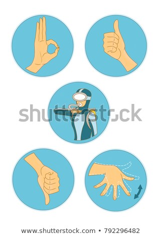divers and hand gestures stock photo © colematt