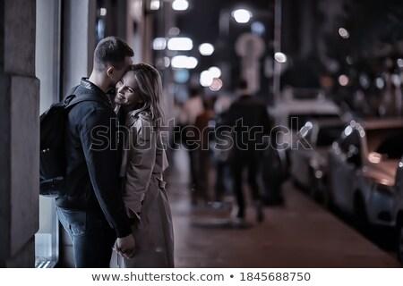 Foto stock: Amoroso · casal · caminhada · Budapeste · Hungria · andar