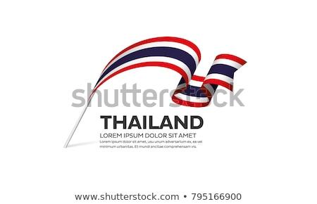 Placa diseno bandera Tailandia ilustración fondo Foto stock © colematt