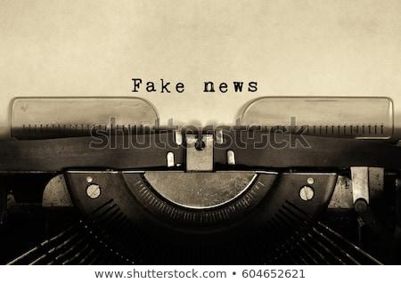 Fake News On Retro Typewriter Concept Stock photo © ivelin