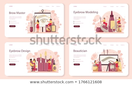 Stock photo: Professional makeup concept landing page.