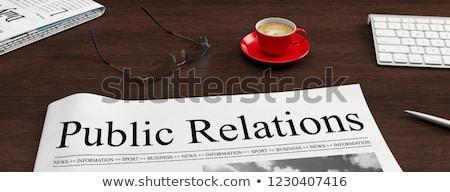 public relations concept banner header stock photo © rastudio