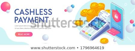 Internet ligne bénéfices isométrique main portable Photo stock © -TAlex-