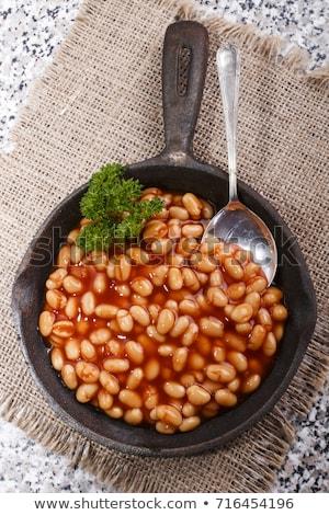 Inglés · desayuno · frito · huevos · salchichas · tocino - foto stock © dash